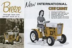 Первая афиша тракторов Cub Cadet