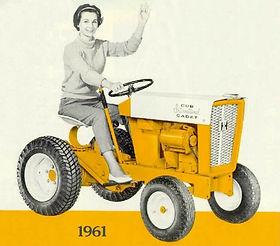 Рекламная кампания тракторов Cub Cadet 1961 год