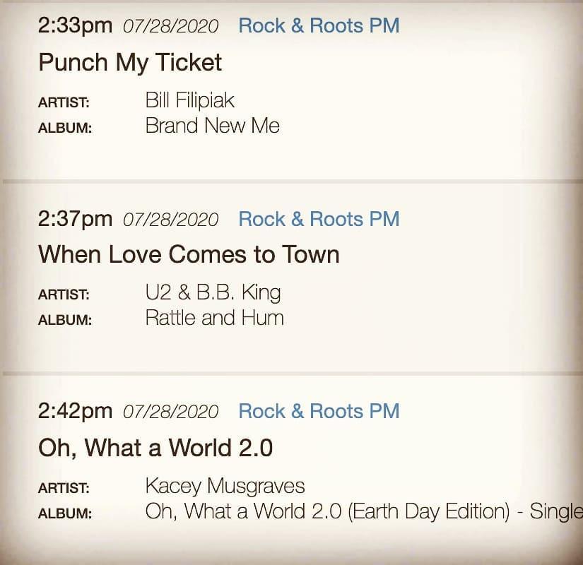 Rock & Roots PM Playlist