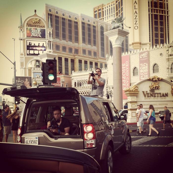 Filming in Vegas for Laura Bell Bundy