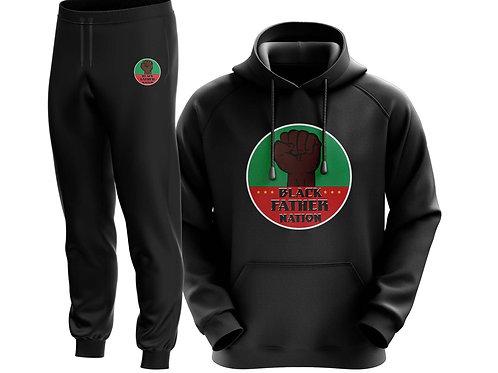 BLACK FATHER NATION LOGO PREMIUM JOGGER SET