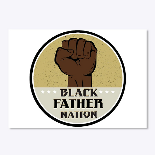 "Black Father Nation Stickers (3 "" by 3 "")"