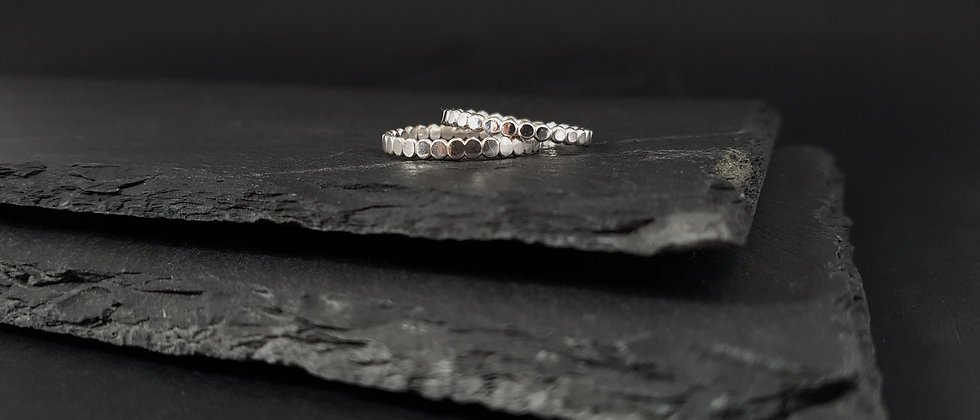 Hammered Pearl Ring