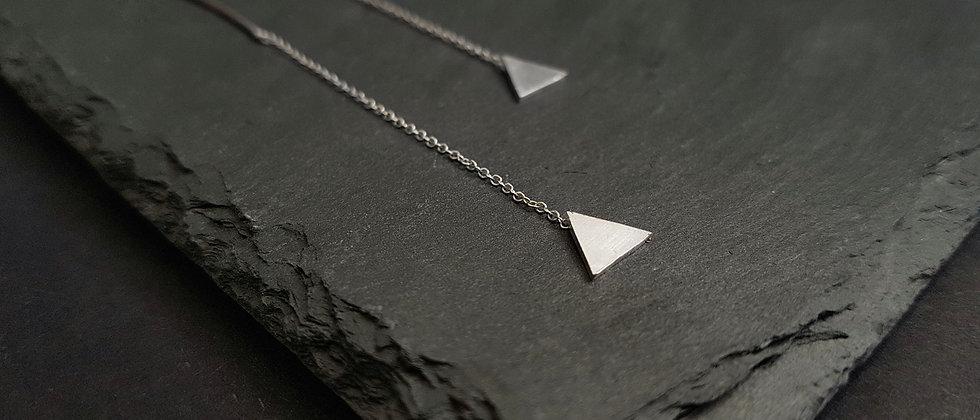 Triangle Threader Earrings