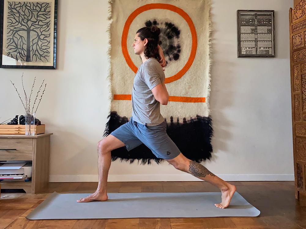 Shoulder stretches yoga