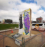 Berlin Wall, Christchurch City, Art, World War II, Rauora Park, East Frame