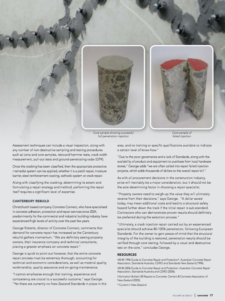 Concrete Crack Injection - Christchurch, New Zealand