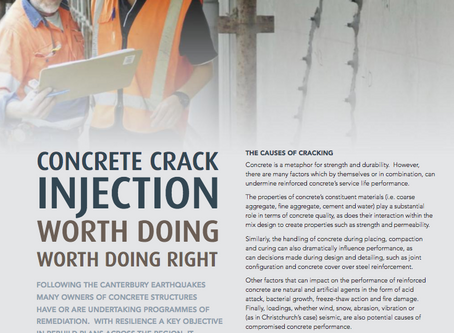 Concrete Crack Injection, Worth Doing Right.