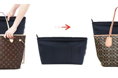 LV Neverfull Bag-in-a-Bag Zippered Insert in Navy Blue