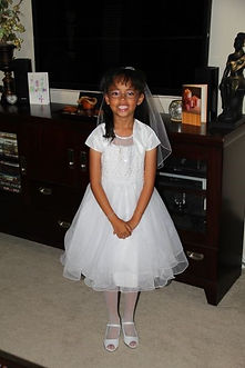 6e0340c0c First let me share that as a Catholic mom, from the time Kiara was a baby I  was excited for her 1st Holy Communion day. I envisioned the dress and the  day ...