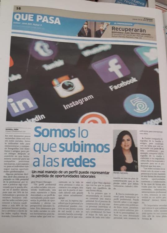 Periodico El Nacional Wendy Acevedo