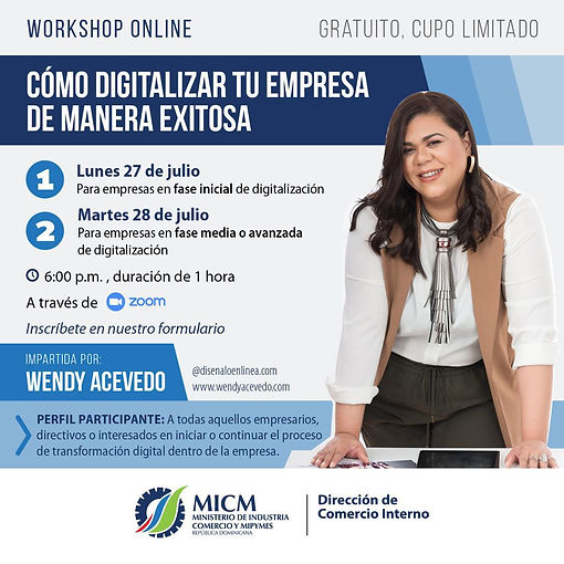WORKSHOP ONLINE COMO DIGITALIZAR TU EMPR