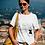 Camiseta ilustrada con frase inspiradora para mujer