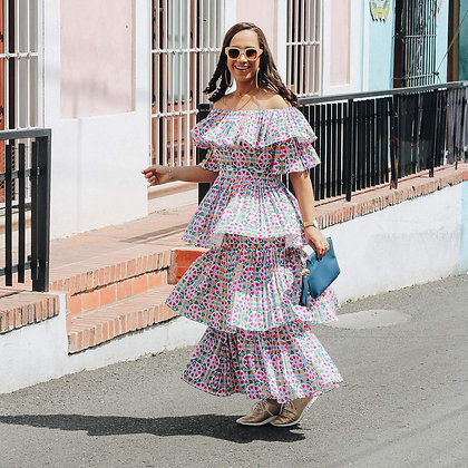 Colors Fun OffShoulder Dress