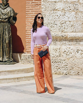 Orange Wide Pants