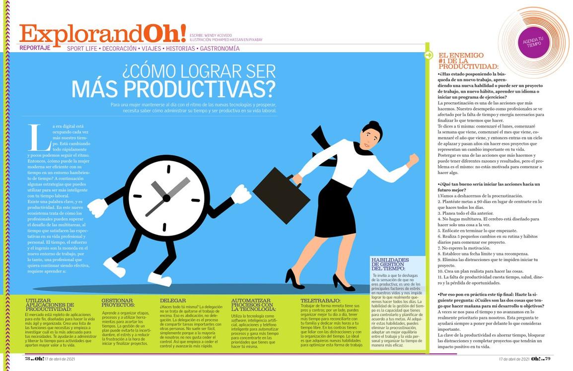 revista Oh Magazine Productividad por We