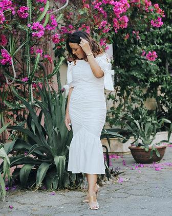 Blanco Midi Dress