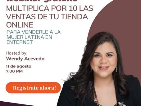 Webinar gratuito Multiplica por 10 las ventas de tu tienda online para venderle a la mujer