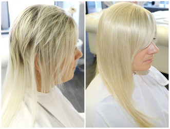 Bleach damage, hair loss replacement used to allow hair to grow healthy