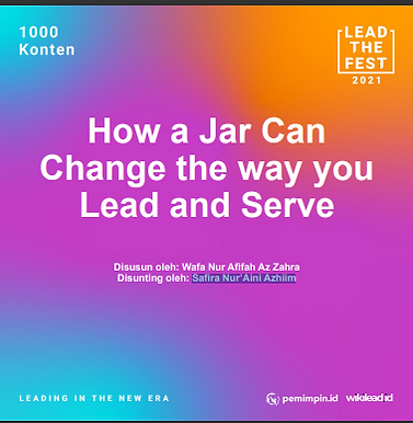 How a Jar Can  Change the way you  Lead and Serve