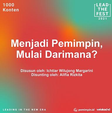 Menjadi Pemimpin,  Mulai Darimana?