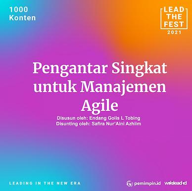 Pengantar Singkat  untuk Manajemen  Agile