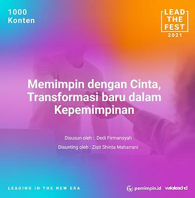 Memimpin dengan Cinta,  Transformasi baru dalam  Kepemimpinan