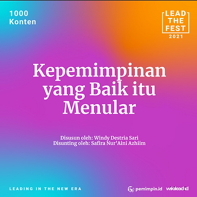 Kepemimpinan  yang Baik itu  Menular
