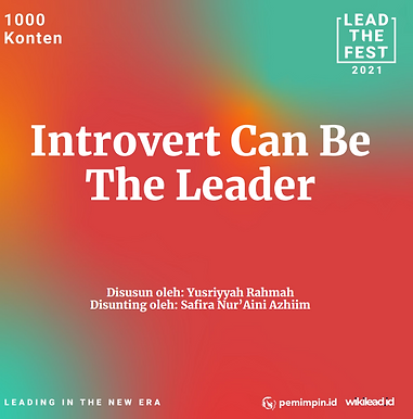 Introvert Can Be  The Leader