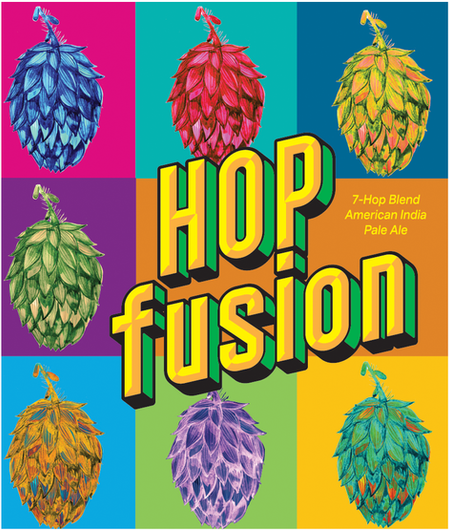 Hop Fusion Label for Tantrick Brewing