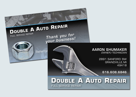 Double A Business Card