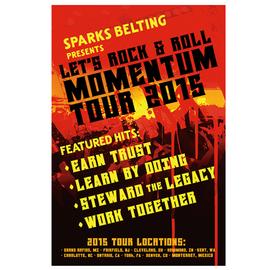 Sparks Belting Poster