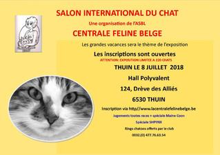 Duchesse et Willow seront présentes à l'expo de Thuin ce 7 Juillet 2018