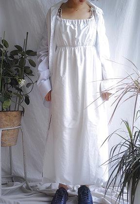 gathered cotton cami dress