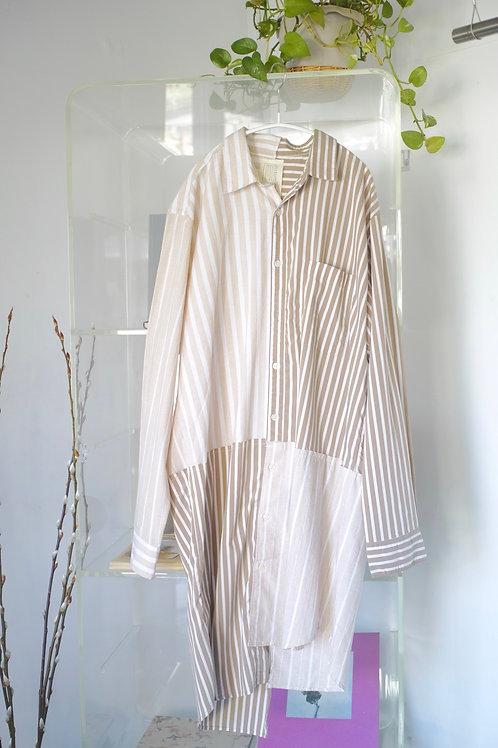 stripe mix long shirt