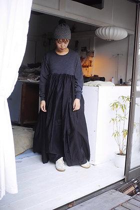 knit docking dress(black mix)
