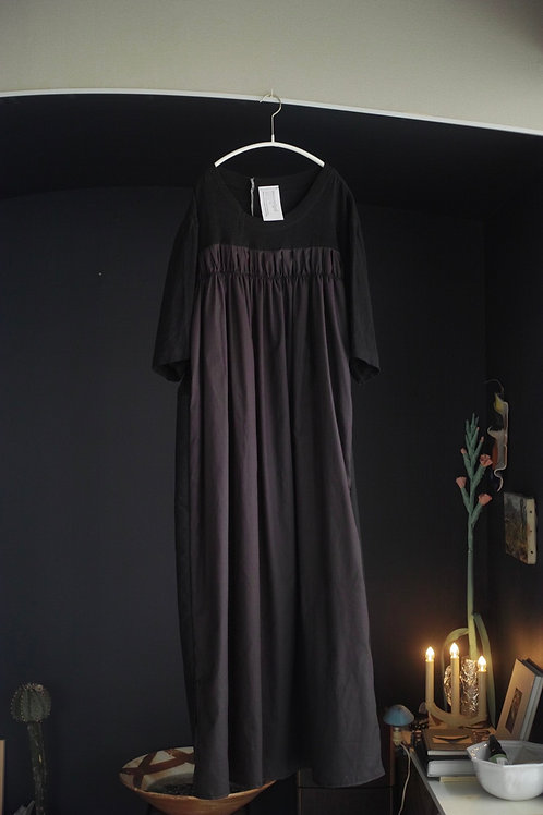 T-shirt dress (black mix)