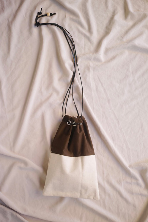 drawstring bag (canvas/olive)