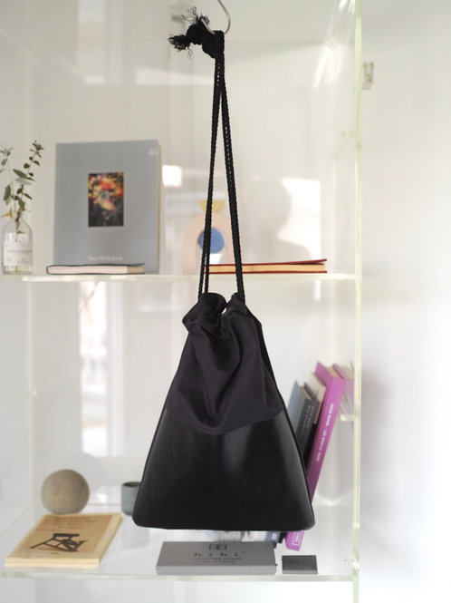 drawstring bag(navy, black)