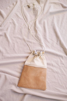 drawstring bag (canvas/tan)