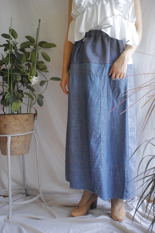 denim mix skirt