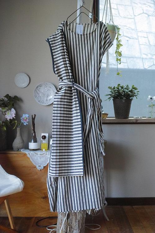 double layered dress (stripe)