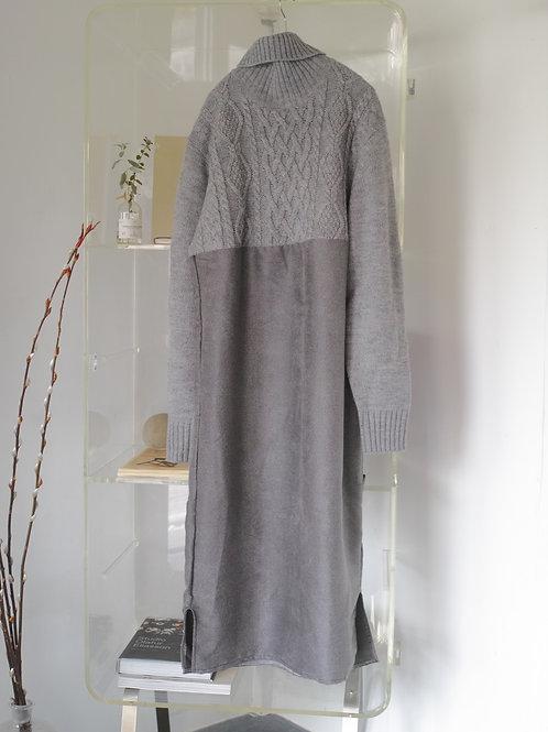 knit docking dress(blue gray mix)