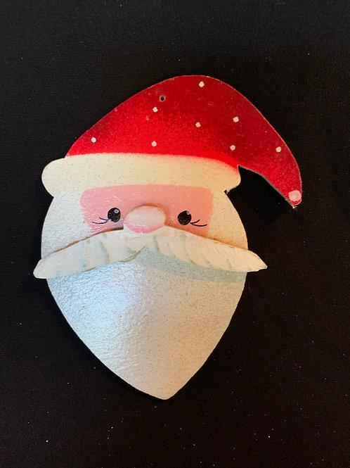 Santa with polka dot hat