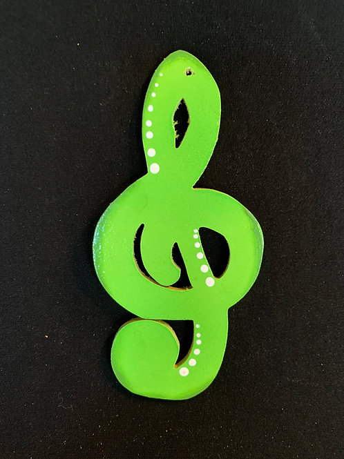 treble symbol green