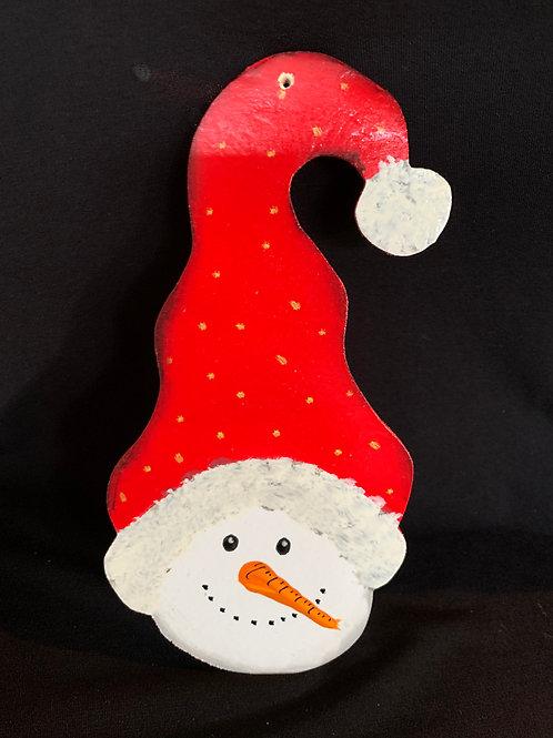Tall hat snowman