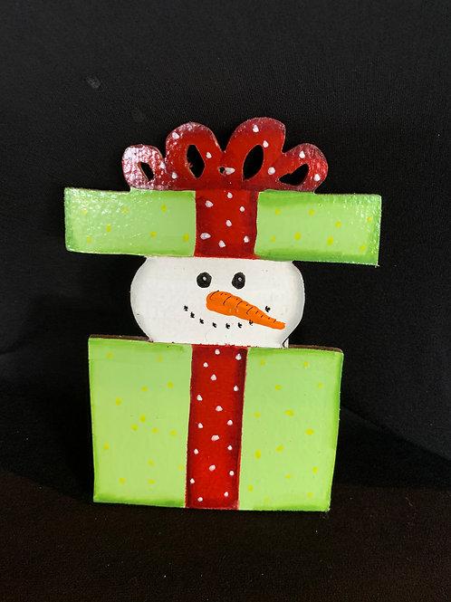 Snowman in gift box