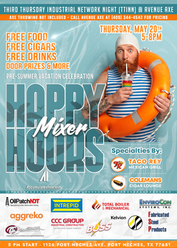 May Happy Hour Mixer Event Flyer for Accumulated Interests