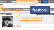 How to find the URL link to your social media icons.