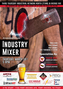 March Happy Hour Mixer Event Flyer for Accumulated Interests